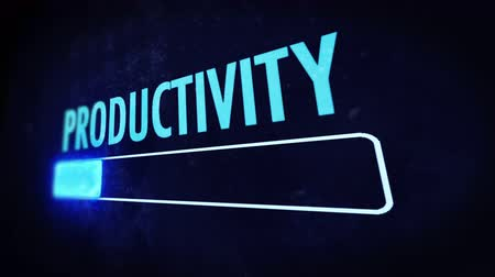 haladás : Productivity Bar: Boost your performance Stock mozgókép
