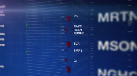 Stock Market Ticker Symbols Are Displayed On Different Layered Panels While Shares Are Traded In The Stock Exchange With Green And Red Arrows Indicating Their Gains And Losses