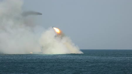 střela : Battle launch rockets with a missile boat - day naval fleet