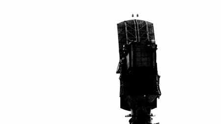 radars : The missile system S-400 to the position Stock Footage
