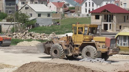 montáž : road construction - work construction equipment