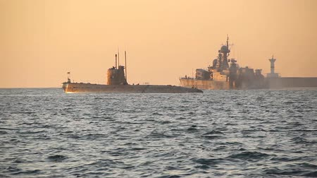 fleet : Military naval exercises of the Russian fleet