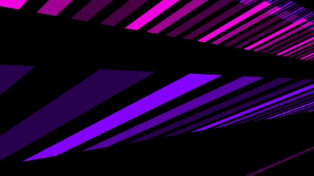 Glowing lines, abstract background animation