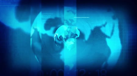breaking news : Broadcast news intro opening, earth globe animated rotation. Stock Footage