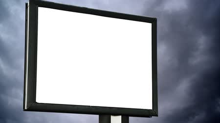 sem nuvens : Blank Billboard with empty screen over cloud time lapse Vídeos