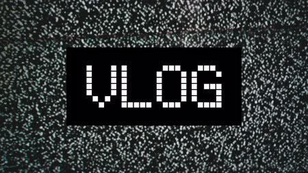 ruído : Video blog or Vlog concept. title over static TV noise background. 1920x1080 full hd footage.