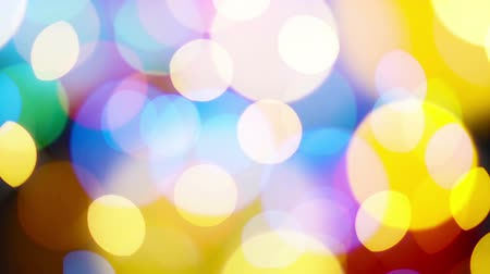 comemoração : Beautiful colorful defocused bokeh festive lights as abstract holiday celebration background. 1920x1080 full hd footage.