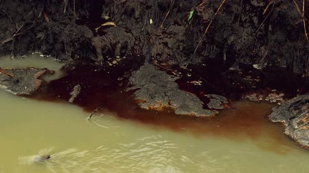 утечка : River Water Pollution And Contamination from Chemical Industry Factory Sewage, Steady 1920x1080 full hd footage.