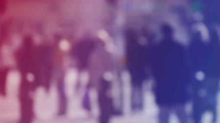 unrecognizable people : Blur Crowd of People Walking On the Street in Bokeh, unrecognizable group of men and women as blur urban background. 1920x1080 full hd footage.