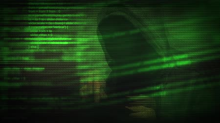 bezpieczeństwo : Unrecognizable faceless hooded cyber criminal using digital tablet computer to access deep web internet page, p2p, piracy or network security concept, 1920x1080, 1080p full hd footage Wideo
