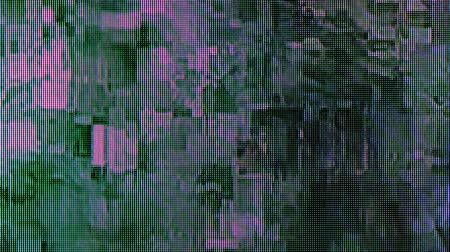 ruído : Distorted digital cable TV signal, television glitch