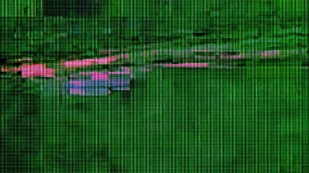 Distorted digital cable TV signal, television glitch