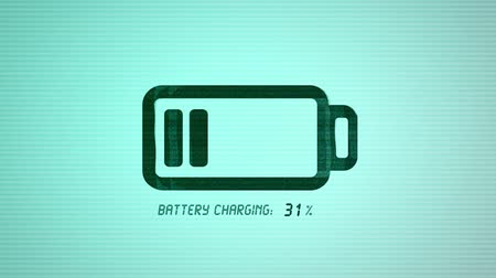 pil : Electronics device battery charging animation with modern visual effects