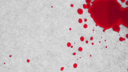 bloodshed : Blood dripping onto white surface, abstract background for violence, murder or crime scene