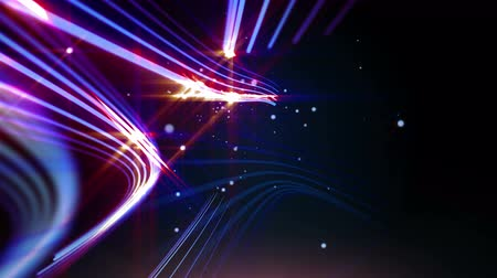 tahy : Abstract lines and particles with bright shiny light, animated motion graphic background