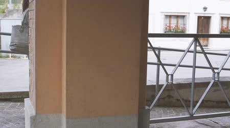 amado : Wheelchair on a ramp: handicap, accessible infrastructures and mobility concept Stock Footage