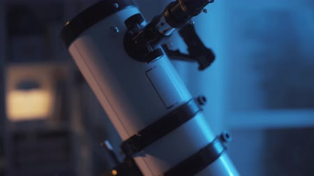bámul : Professional astronomical telescope close up, science and astronomy concept
