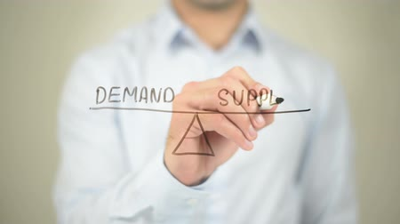 forma : Demand Supply Concept Illustration, Man writing on transparent screen Dostupné videozáznamy