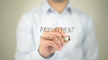demanda : Procurement Management  , man writing on transparent screen