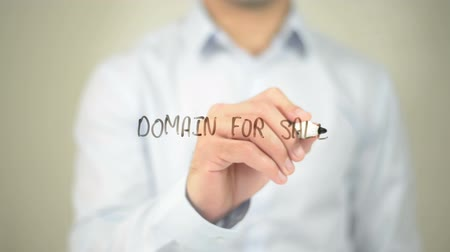 download : Domain For Sale  , man writing on transparent screen