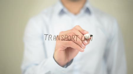 amendment : Transport Law, man writing on transparent screen