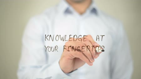 fingertips : Knowledge At Your Fingertips, writing on transparent screen