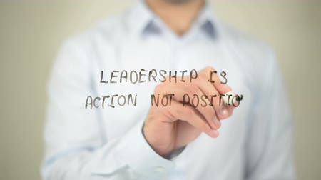 pozisyon : Leadership Is Action Not Position Stok Video
