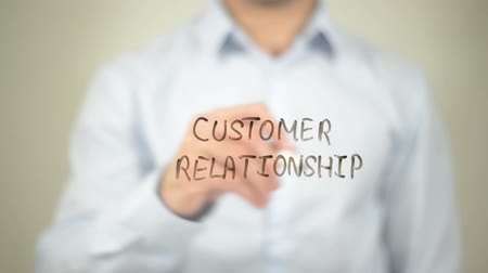clientes : Customer Relationship , writing on transparent wall