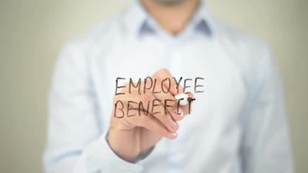 compensar : Employee Benefits  , writing on transparent wall