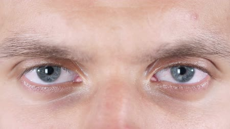 irys : handome attractive young man eyes close up