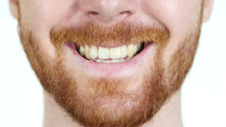 зубы : Detailed image of young man smiling with perfect white teeth