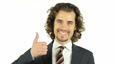 polegar : thumbs up by Young Businessman Portrait
