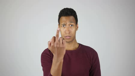 separado : Fuck You, Showing Middle Finger, Gesture By Angry Man Vídeos