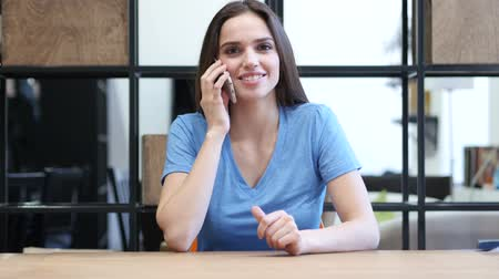 szőke : Phone Call, Woman Talking On Smartphone, Indoor Office