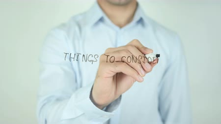 are you ready : Things to Consider, Writing On Transparent Screen Stock Footage