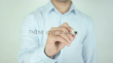 adaptability : Think Like a Winner, Writing On Transparent Screen Stock Footage