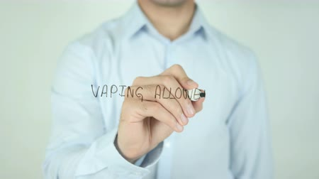 asfalt : Vaping Allowed, Writing On Transparent Screen