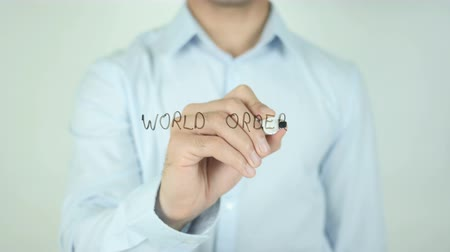 autoridade : World Order, Writing On Transparent Screen Stock Footage