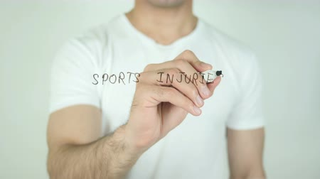 enrolado : Sports Injuries, Writing On Transparent Screen