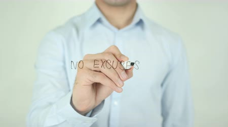 excuses : No Excuses, Writing On Screen Stock Footage