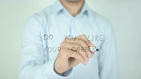 emoties : Do You Like Your Career ?, Schrijven Op Transparent Screen