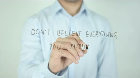 adil : Do not Believe Everything You Think, Writing On Transparent Screen