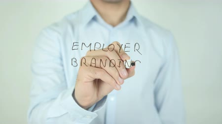 employer branding : Employer Branding, Writing On Transparent Screen Stock Footage