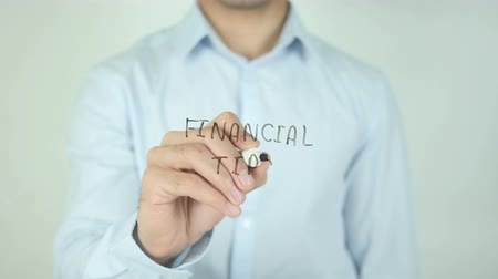 auxiliar : Financial Tips, Writing On Transparent Screen
