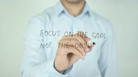 rada : Focus on the Goal not the obstacles, Writing On Transparent Screen Wideo