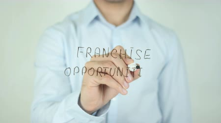 franczyza : Franchise Opportunities, Writing On Transparent Screen Wideo