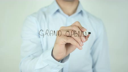unveil : Grand Opening, Writing On Transparent Screen