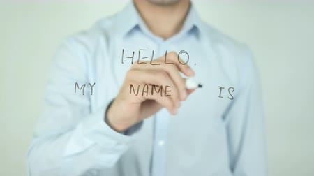 metka : Hello, My Name is, Writing On Transparent Screen