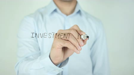 dokumentum : Investment Ideas, Writing On Transparent Screen