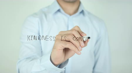 хорошее здоровье : Kindness is Contagious, Writing On Transparent Screen